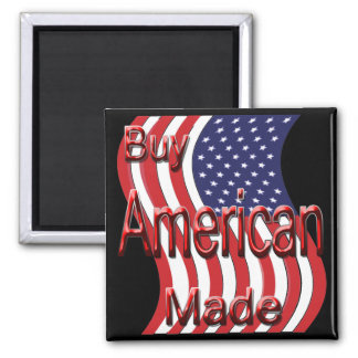 Buy American Made red 2 Inch Square Magnet