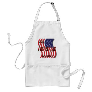 Buy American Made red Adult Apron