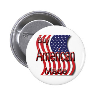 Buy American Made red Pinback Buttons