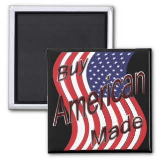 Buy American Made wave 2 Inch Square Magnet