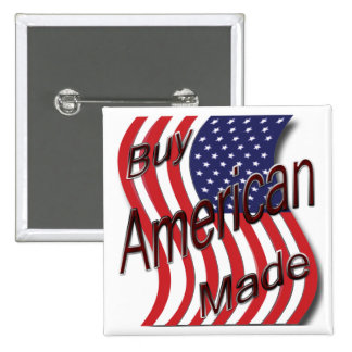Buy American Made wave Pinback Buttons