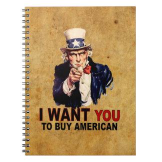Buy American Note Book