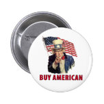 Buy American Pinback Button