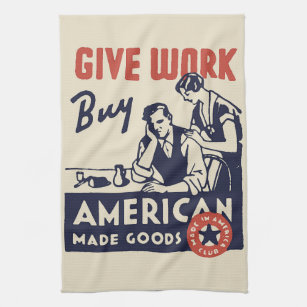 Made In Usa Kitchen Hand Towels Zazzle