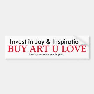 BUY ART U LOVE bumper sticker