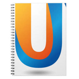 Buy Blue Orange Colored Text Spiral Notebook