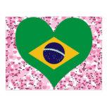 Buy Brazil Flag Postcard