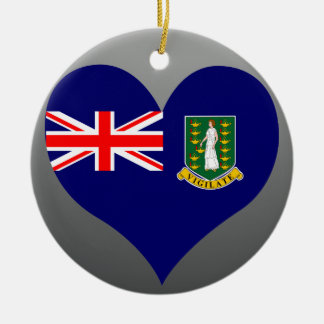 Buy British Virgin Islands Flag Double-Sided Ceramic Round Christmas Ornament
