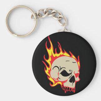 Buy Bulk Burning Skull keychains