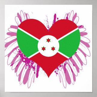 Buy Burundi Flag Posters