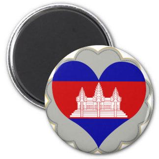 Buy Cambodia Flag 2 Inch Round Magnet