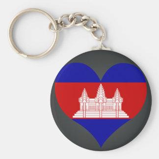 Buy Cambodia Flag Basic Round Button Keychain