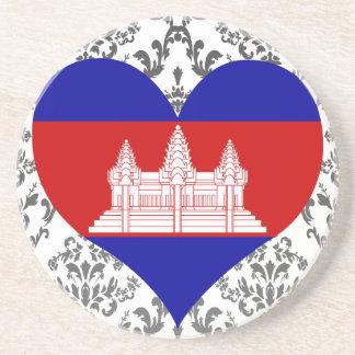 Buy Cambodia Flag Beverage Coaster