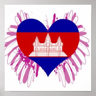 Buy Cambodia Flag Poster