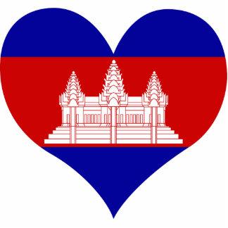 Buy Cambodia Flag Standing Photo Sculpture