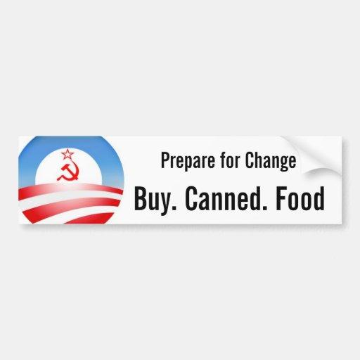 Buy. Canned. Food Car Bumper Sticker