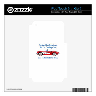 Buy Cars, Buy Happiness iPod Touch 4G Decal