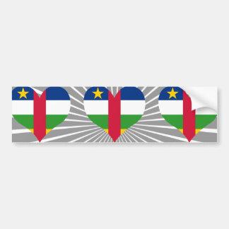 Buy Central African Republic Flag Bumper Sticker