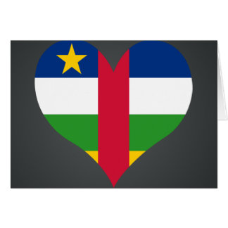 Buy Central African Republic Flag Card