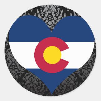 Buy Colorado Flag Classic Round Sticker