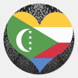 Buy Comoros Flag Round Sticker