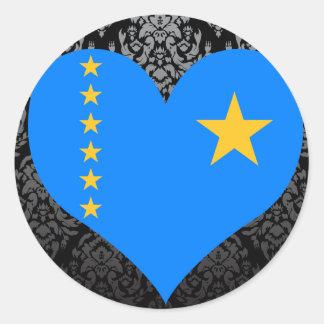 Buy Congo Flag Classic Round Sticker