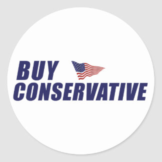 Buy Conservative Classic Round Sticker