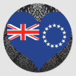 Buy Cook Islands Flag Round Stickers
