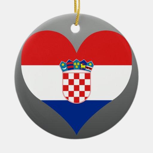 Buy Croatia Flag Double-Sided Ceramic Round Christmas Ornament