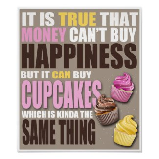 Fun poster print just for the cupcake lover.
