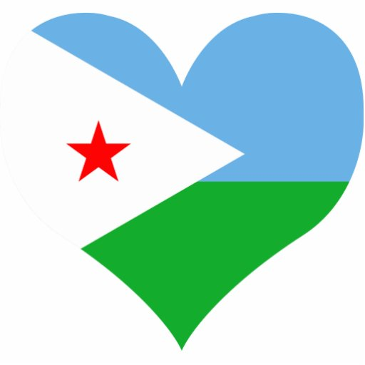 Buy Djibouti Flag Standing Photo Sculpture