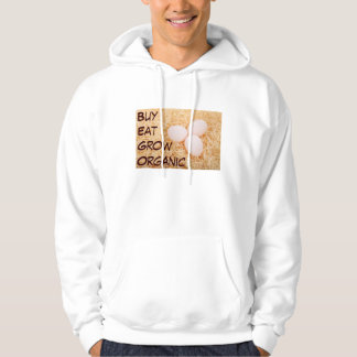Buy Eat Grow Organic mens hoodie