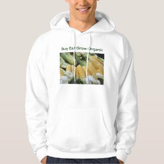 Buy Eat Grow Organic mens hoodie