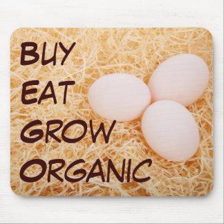 Buy Eat Grow Organic mousepad