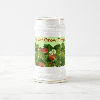 Buy Eat Grow Organic stein Coffee Mugs