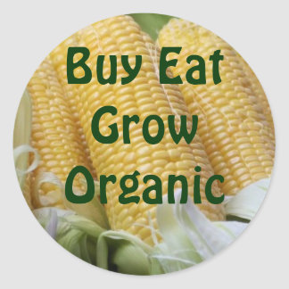 Buy Eat Grow Organic stickers