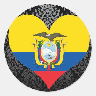 Buy Ecuador Flag Round Stickers