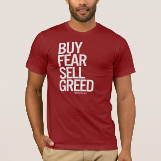"""Buy Fear, Sell Greed"" Men's Tee (Dark)"