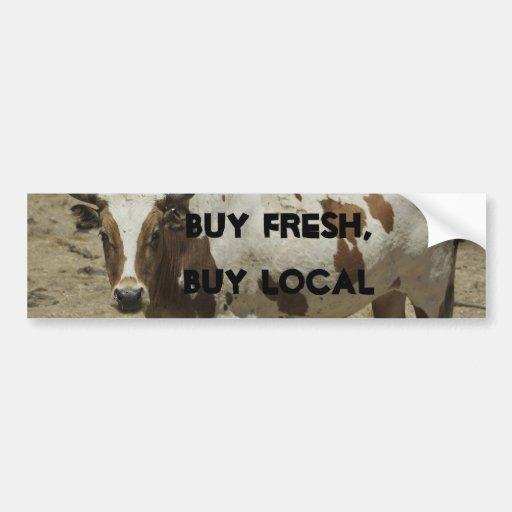 Buy Fresh, Buy Local Car Bumper Sticker