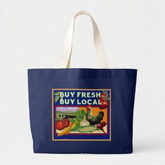 Buy Fresh, Buy Local Large Tote Bag