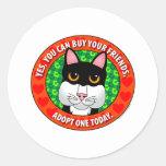 Buy Friends-Cat Classic Round Sticker