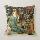 Buy From Us With a Golden Curl Throw Pillow
