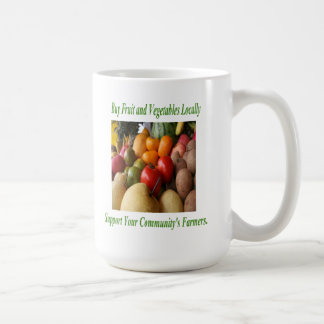 Buy Fruit and Vegetables Locally Mugs