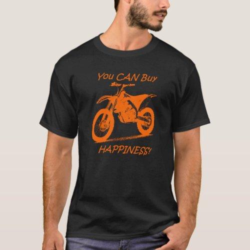 Buy Happiness _ Orange on Black KTM T_Shirt