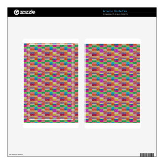 Buy Healing Vibes: CHECKERED ART CRYSTAL TILES Decal For Kindle Fire