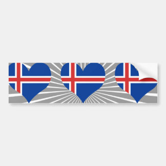 Buy Iceland Flag Bumper Sticker