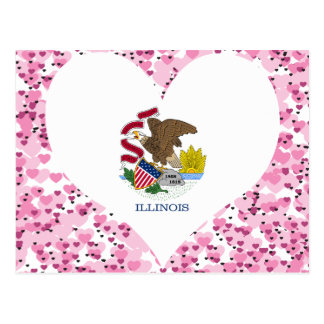 Buy Illinois Flag Postcard