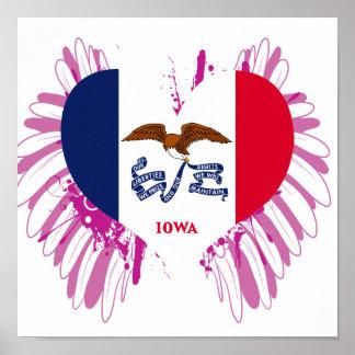 Buy Iowa Flag Print