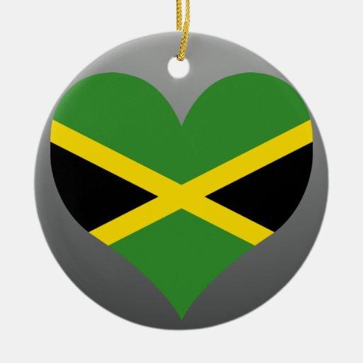 Buy Jamaica Flag Double-Sided Ceramic Round Christmas Ornament