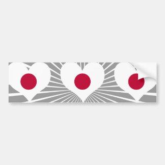 Buy Japan Flag Bumper Sticker